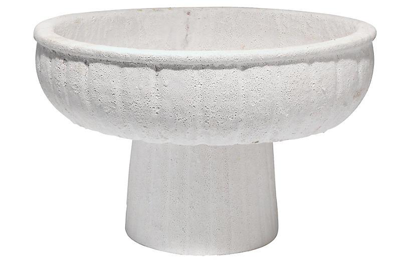 Aegean Pedestal Bowl, White