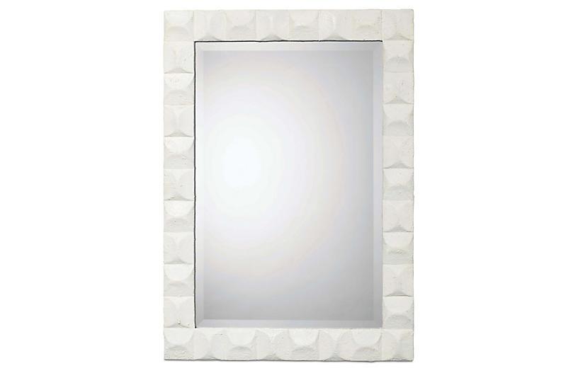 Astor Wall Mirror, White Gesso