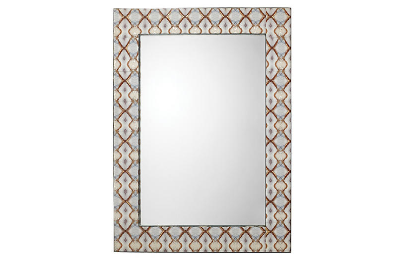 Kaleidoscope Wall Mirror, Rust/Multi