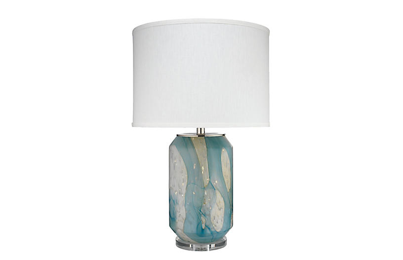 Helen Table Lamp, Pale Blue