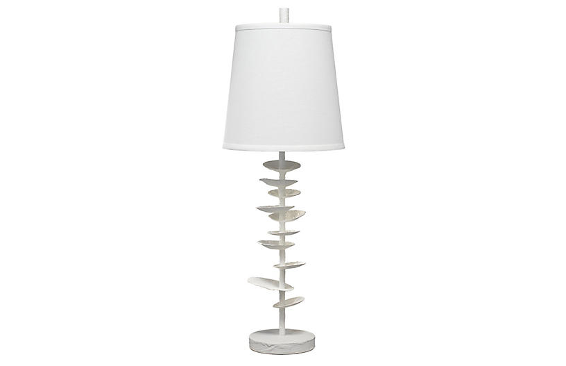 Petals Table Lamp, White