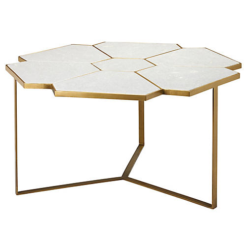 Perennial Coffee Table, Antiqued Brass