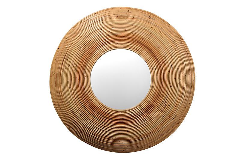 Koa Rattan Wall Mirror, Natural