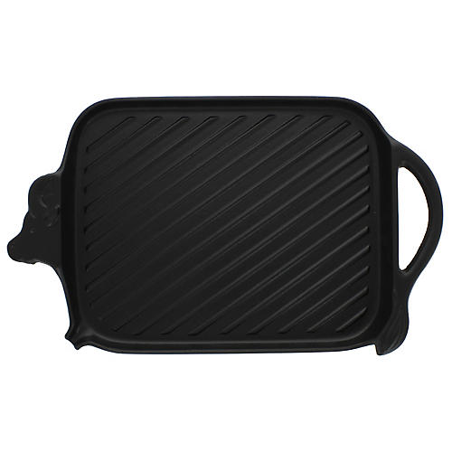 "15"" Chasseur Cow-Shaped Cast Iron Griddle, Black"