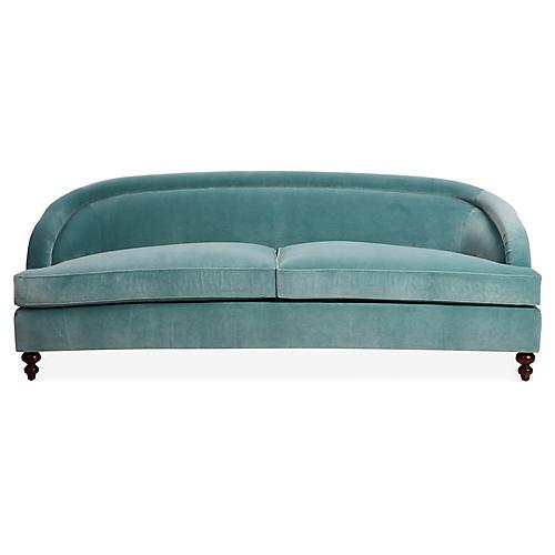 Crawford Sofa, Ocean Velvet