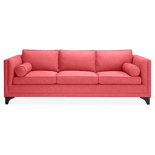 Downing Bolster Sofa, Begonia