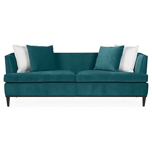 Monroe Sofa, Dark Turquoise