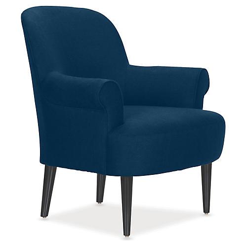Pierce Accent Chair, Denim