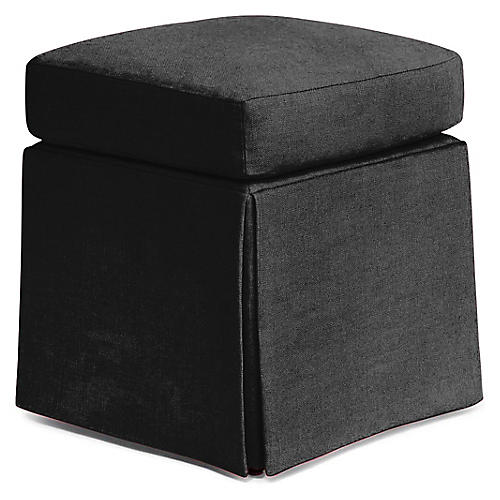 Russell Square Ottoman, Jet Black