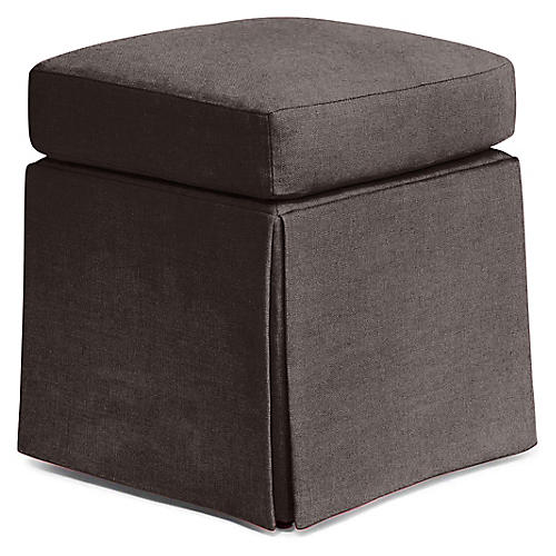 Russell Square Ottoman, Charcoal