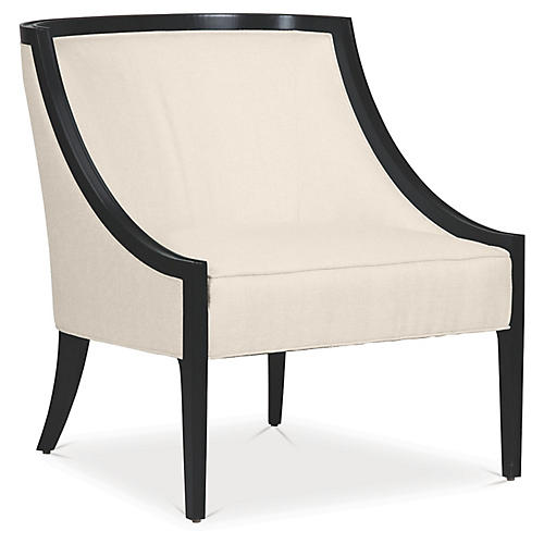 Sinclair Accent Chair, Flaxseed