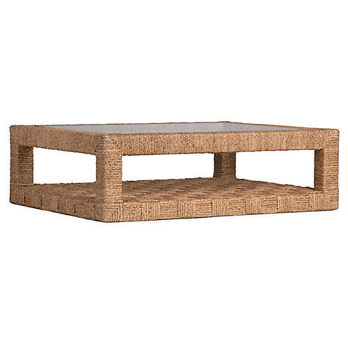 Bartlett Woven Coffee Table, Natural