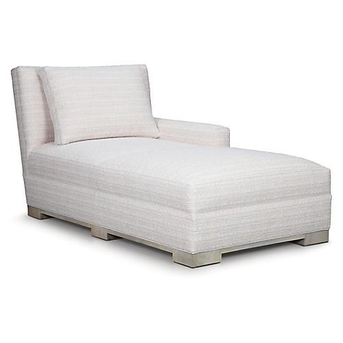 Soirée Right-Facing Chaise, Cream