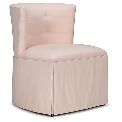 Chit Chat Accent Chair, Pale Pink