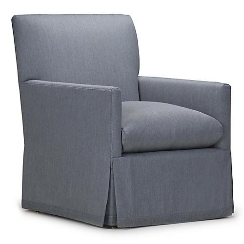 Cheeky Club Chair, Dark Gray