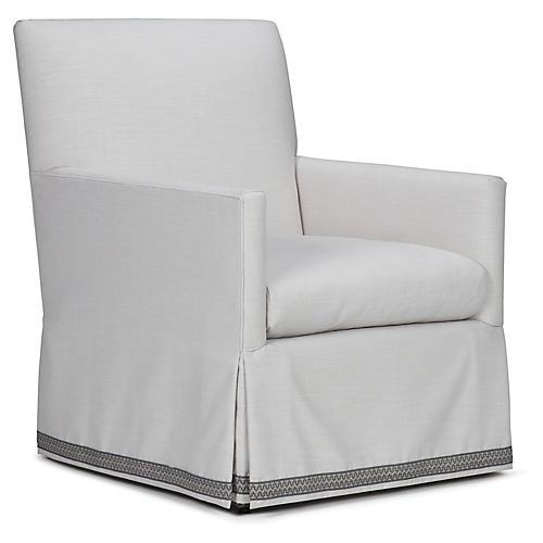 Cheeky Club Chair, White/Gray