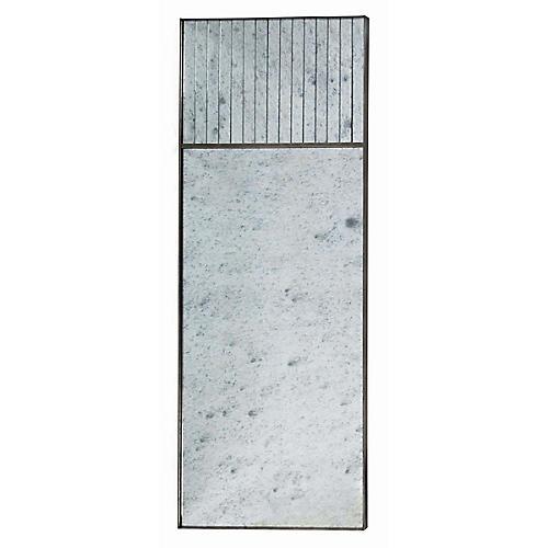 Cordell Floor Mirror, Blackened Silver