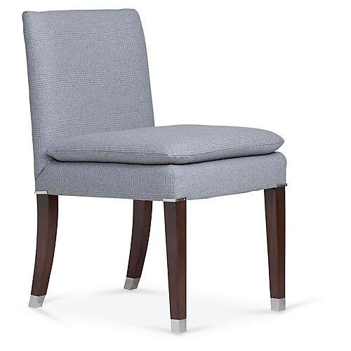 Lawson Side Chair, Fieldstone Gray Plaid