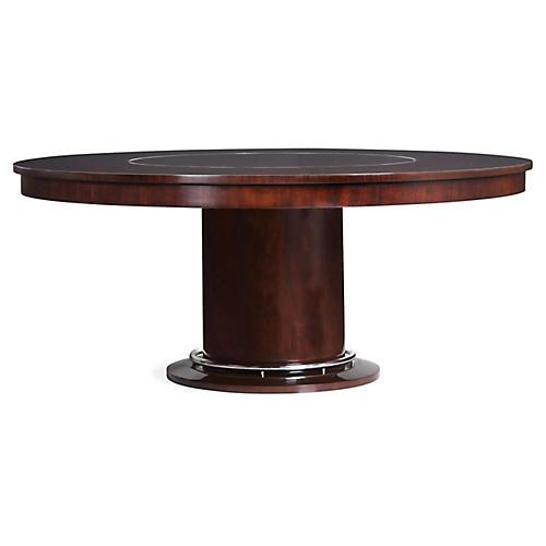 Brook Street Salon Dining Table, Chairman Mahogany