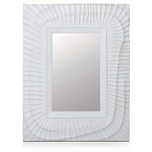 Burnham Wall Mirror, White Plaster