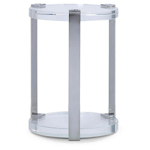 Iconic Side Table, Polished Stainless Steel