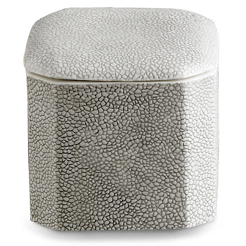 Shagreen Cotton Jar, Gray