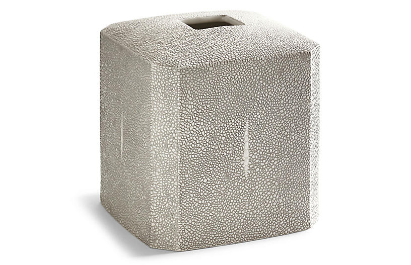 Shagreen Tissue Holder, Gray