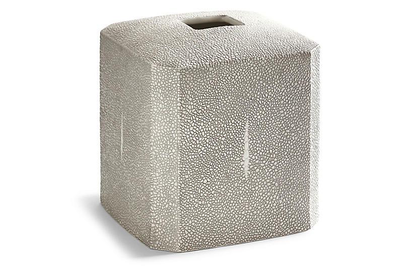 Shagreen Tissue Holder, Gray