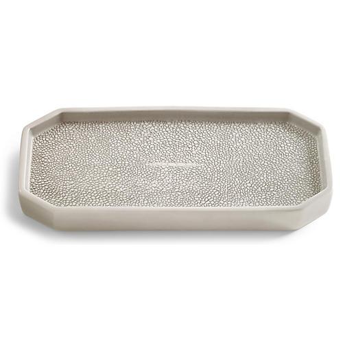 Shagreen Tray, Gray