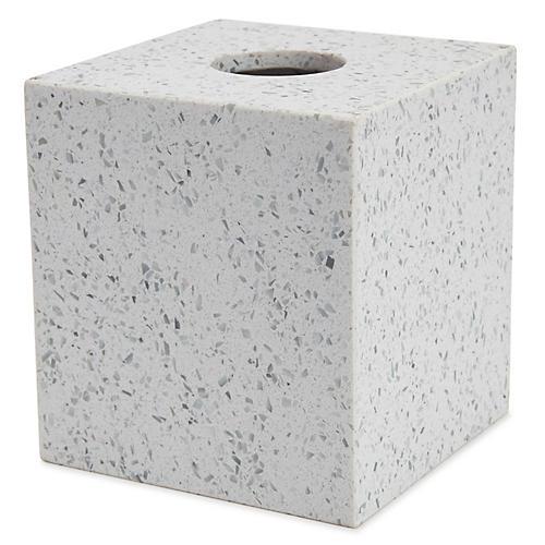 Terrazzo Tissue Holder, Light Gray