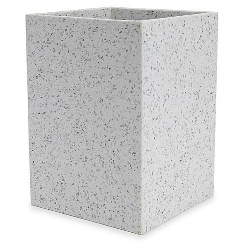 Terrazzo Wastebasket, Light Gray