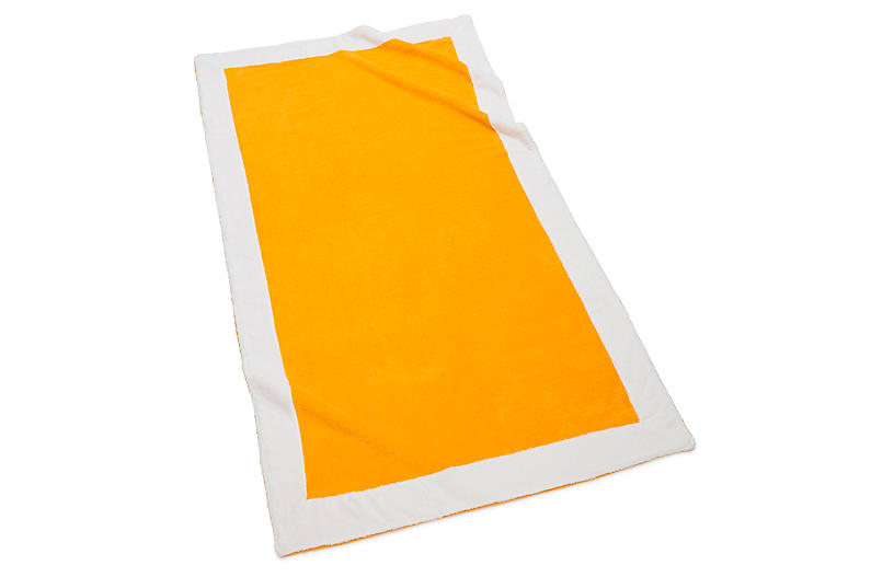 Capri Beach Towel, Lemon