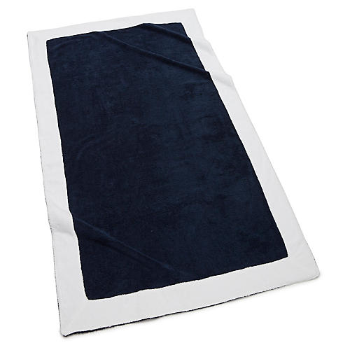 Capri Beach Towel, Navy