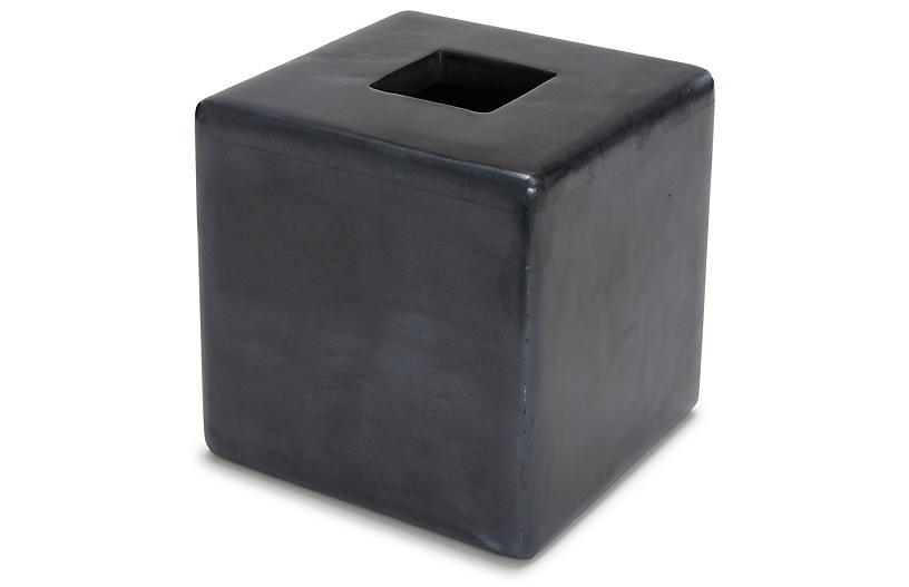 Noir Tissue Holder, Black