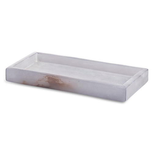 Alabaster Tray, Gray