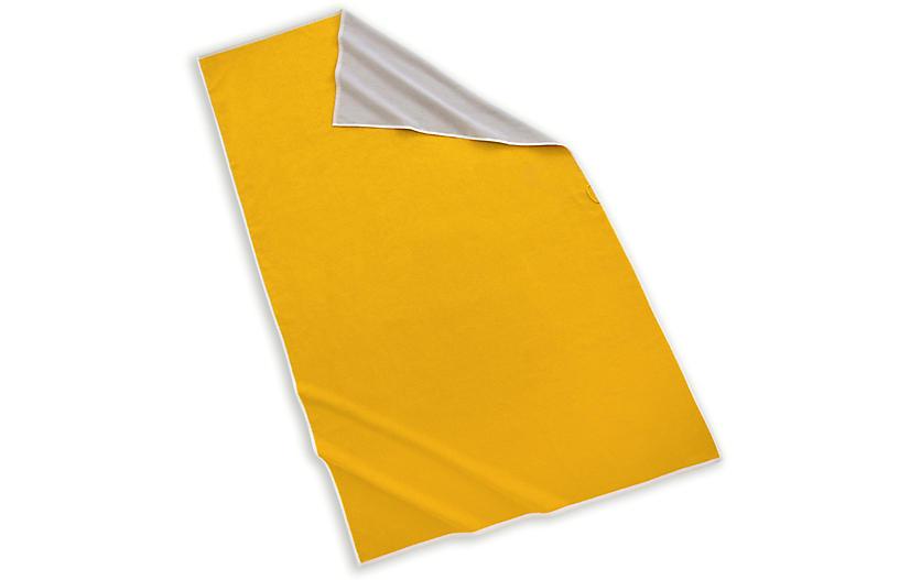 Maui Beach Towel, Yellow/Gray