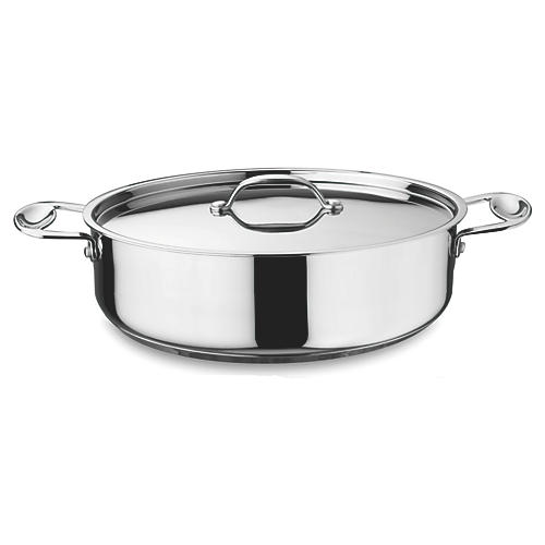 Glamour Oval Casserole Pan, Silver