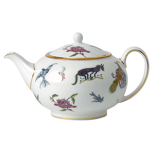 Mythical Creatures Teapot, White/Multi