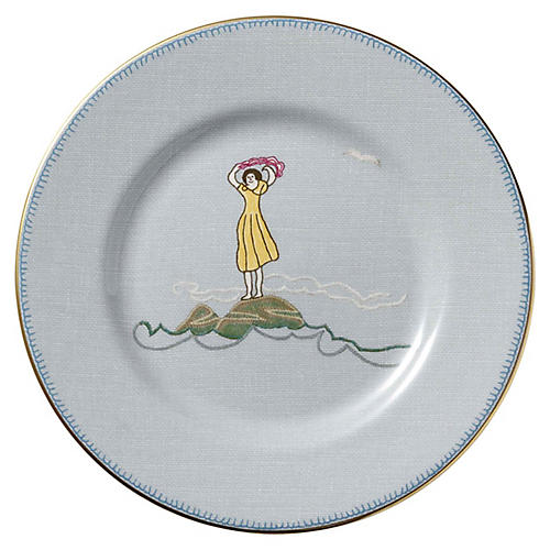 Sailor's Farewell Bread & Butter Plate, Blue/Multi