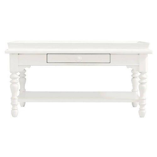Sand Box Coffee Table, Saltbox White
