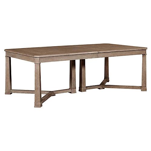 Weathersfield Ext. Dining Table, Brimfield Oak