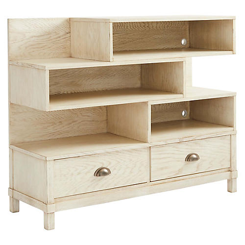 Driftwood Park Low Bookcase, Vanilla