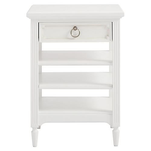 Clementine Open Nightstand, White