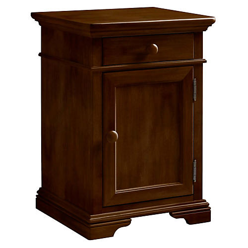 Teaberry Lane 1-Door Nightstand, Cherry