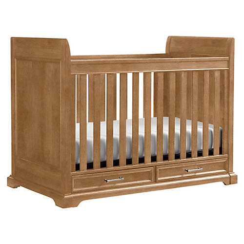 Chelsea Square Stationary Crib, Natural