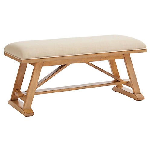 Chelsea Square Bench, Marlow Burlap