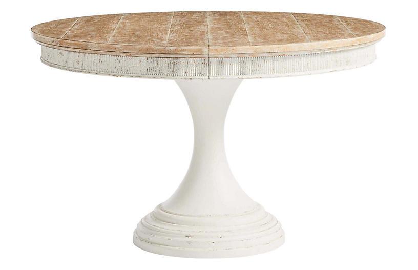 Juniper Round Dining Table, Whitewash