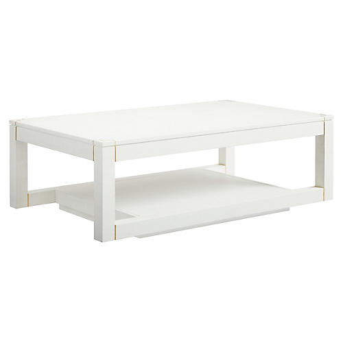 Panorama Parsons Coffee Table, Alabaster