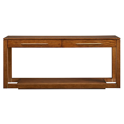 Panorama 2-Drawer Console, Goldenrod