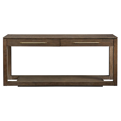Panorama 2-Drawer Console, Quicksilver